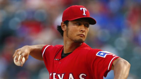 Darvish blanks Marlins, posts first career CG