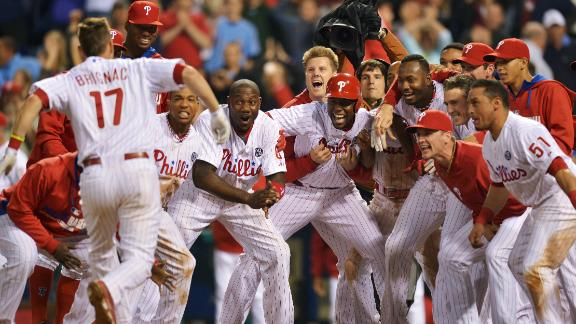 Phillies end scoreless game with walk-off HR