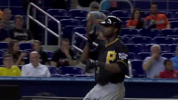 Polanco hits 1st HR, helps Pirates past Marlins