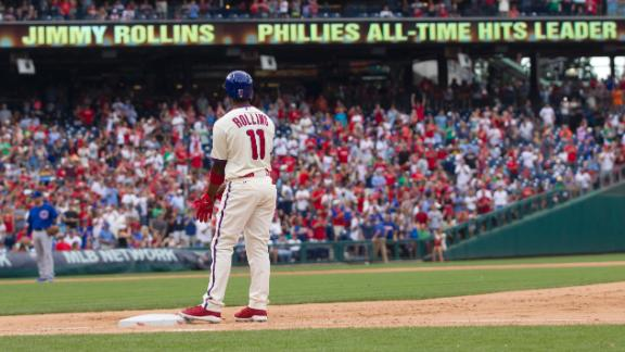 Rollins Sets Phillies' Hit Record In Win
