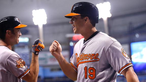 Davis' slam requires review, propels Orioles