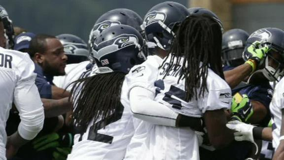 Tempers Flare At Seahawks Minicamp