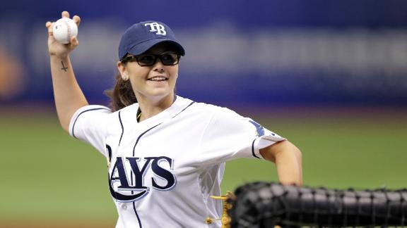 High School Girl Pitches Against Rays