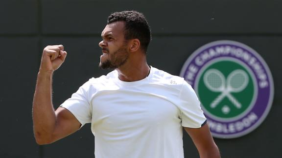Tsonga Advances At Wimbledon