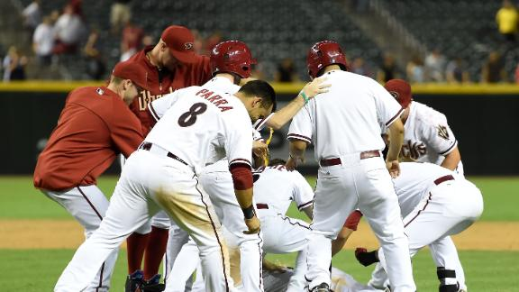 Hill, D-backs Walk Off In 14th