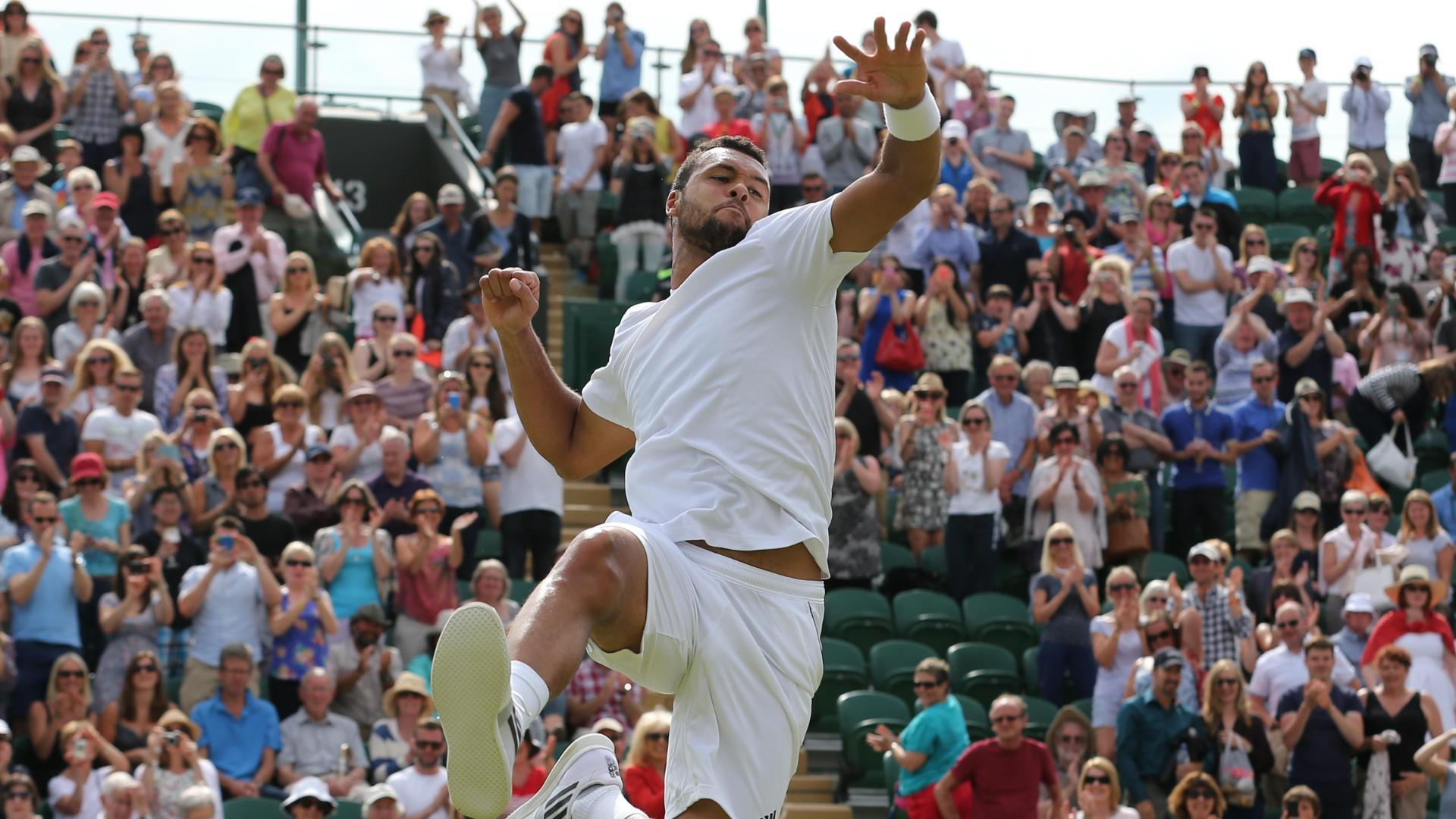 Tsonga Enhances Victory Dance