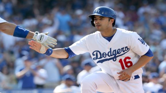 Dodgers' bats power Greinke to 10th victory