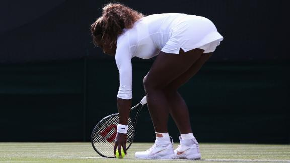 Serena Staggers Out Of Doubles With Illness