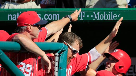 Nats get season-high 19 hits in rout of Cubs