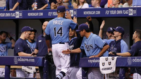 Price wins fourth straight start for the Rays