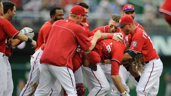 Nationals Walk Off On Werth's Double