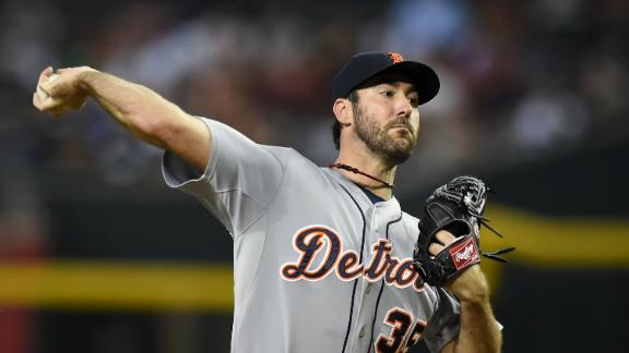Verlander moves to 3rd in Tigers K's in win