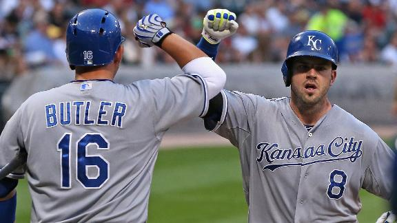 Moustakas Homers Twice In Win