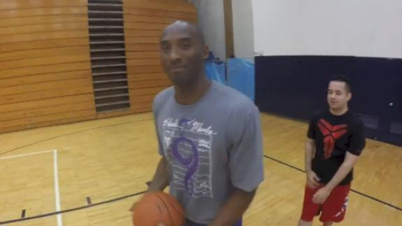 Kobe Plays Fan In Game Of HORSE