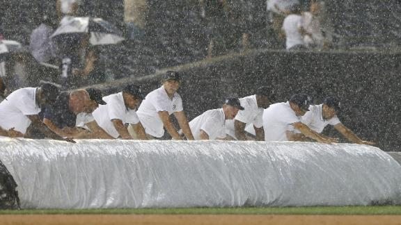 Video - Yankees Win Rain-Shortened Game