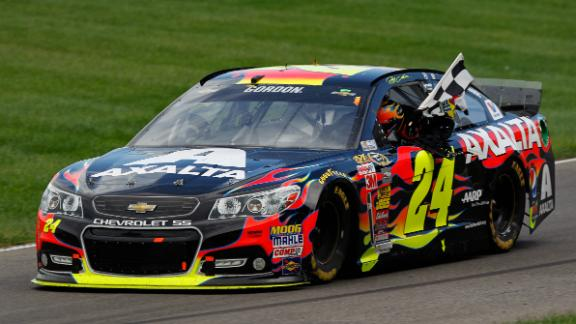 Jeff Gordon wins at Indy for record fifth time