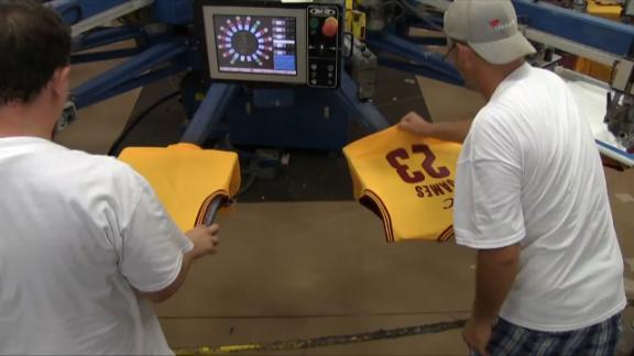 Video - The Making Of LeBron's Jersey