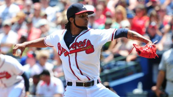 Santana, Gattis Lead Braves Past Padres