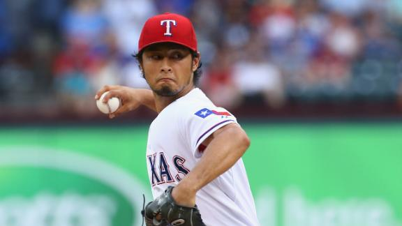 Yu Darvish can't stop Brett Gardner, blames Gardner's parents