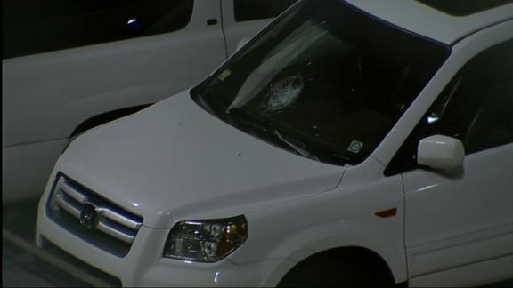 Melky's HR Ball Smashes Windshield