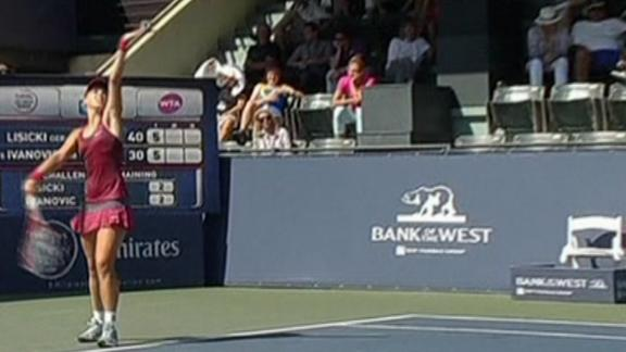 Lisicki's Blazing Serve