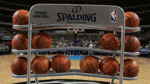 NBA Game Balls Getting Social Media Identifier