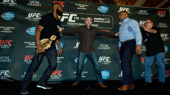 Jones, Cormier Brawl At Title Fight Promotion