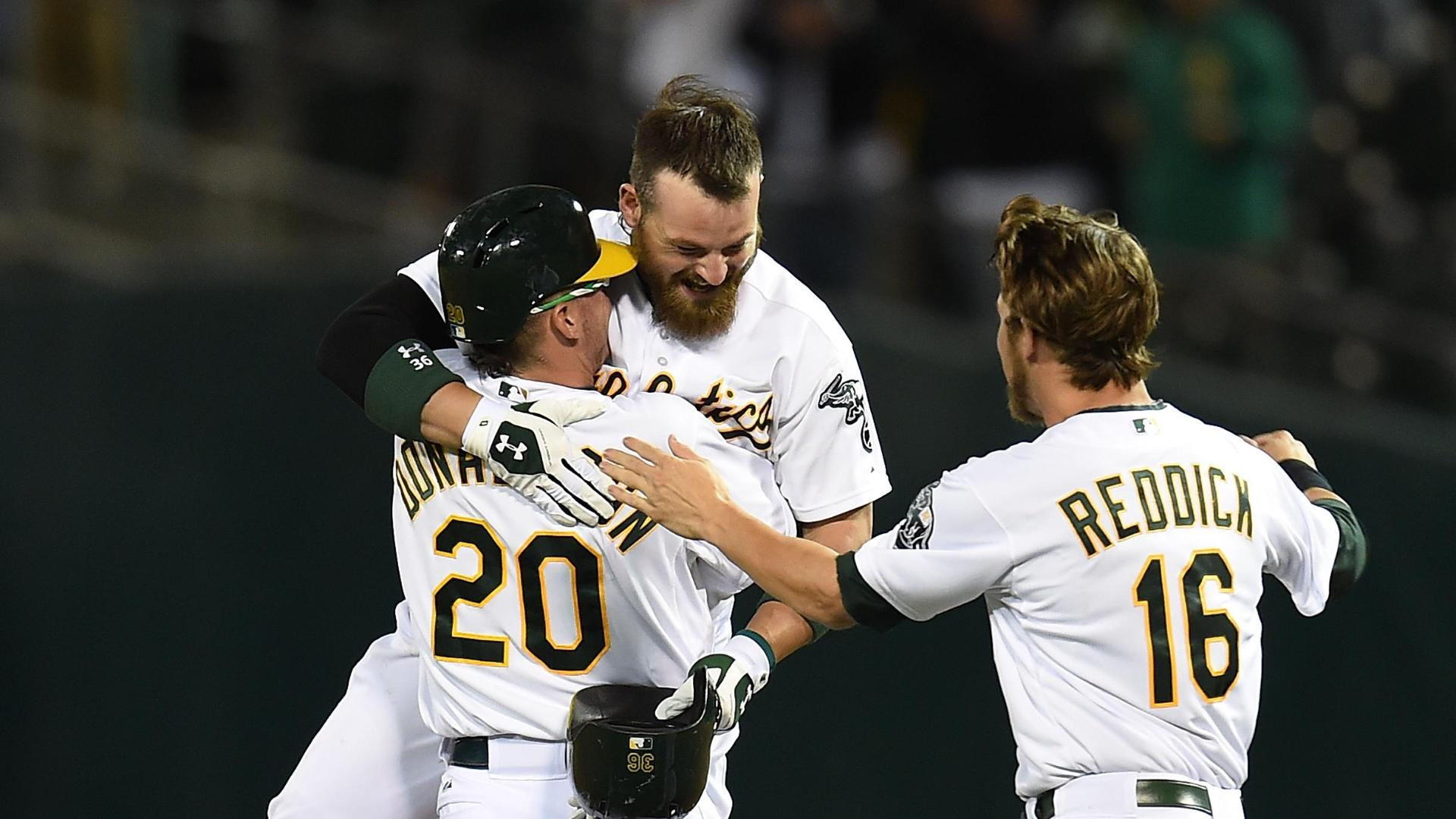 A's Walk Off In The 10th
