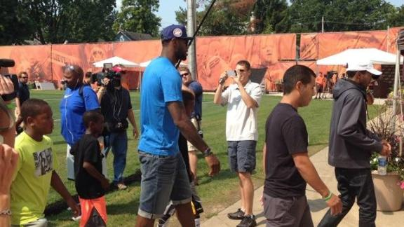 LeBron Checks Out The Browns