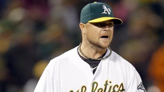 Lester, A's Shut Out Twins
