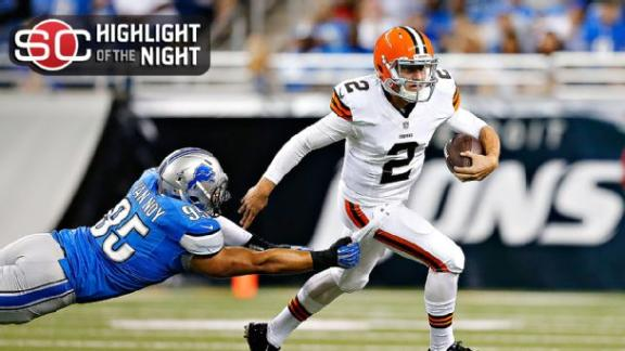 Johnny Manziel Makes Debut For Browns