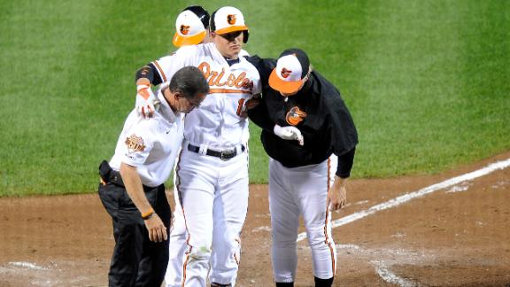Machado Injured In Orioles' Win