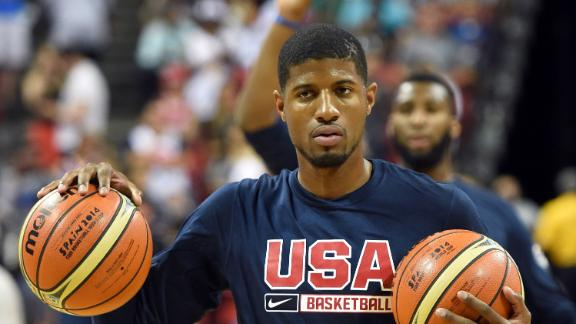Video - Paul George Switching Uniform Number