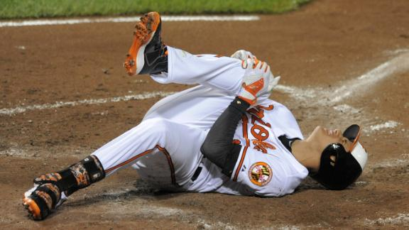Video - Manny Machado Hurt In Orioles' Win