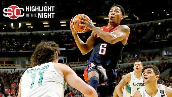 Davis, Team USA Roll Over Brazil