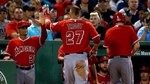 Angels Double Up Red Sox