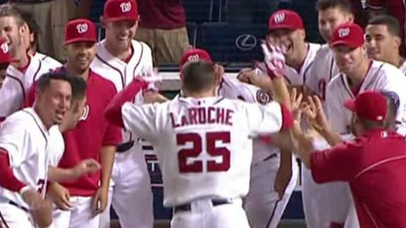 LaRoche homer lifts Nats over D-backs in 11