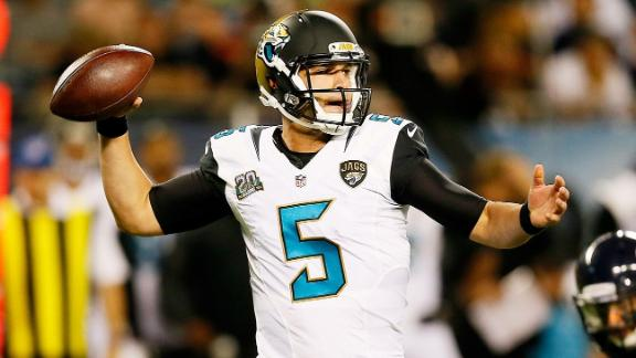 Video - Bortles Playing With Starters Important