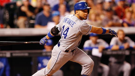 Infante, Royals Win Third Straight