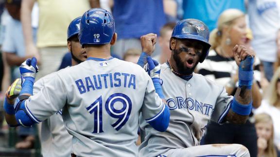 Bautista, Blue Jays End Brewers' Win Streak
