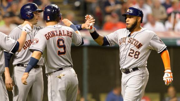 Singleton, Astros Topple Indians