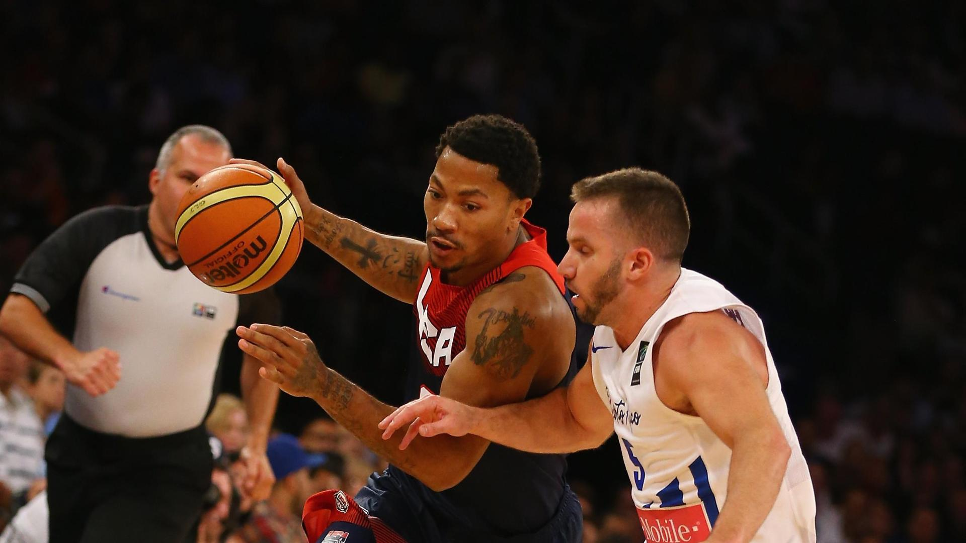 Rose, Team USA Pull Away From Puerto Rico