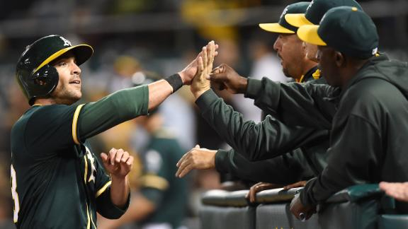 A's Hold Off Angels