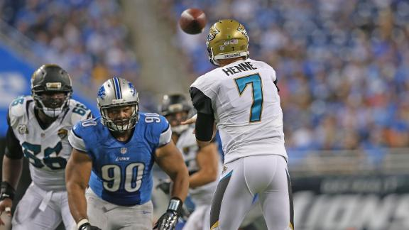 Suh Flagged For Hitting Henne