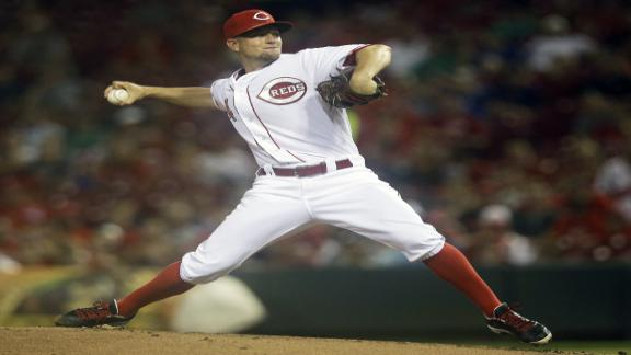 Leake dazzles on mound, at plate for Reds