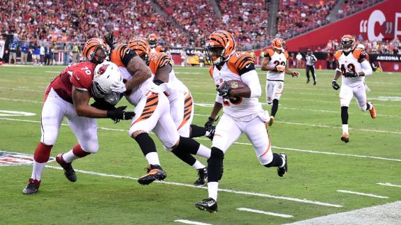 Newman INT return keys Bengals vs. Cards