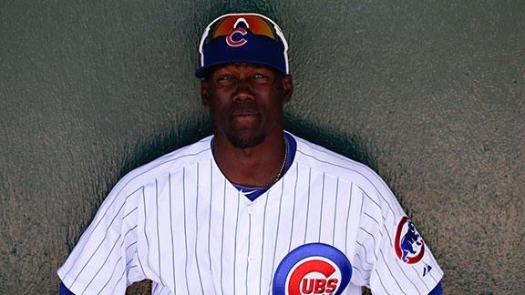 Rizzo (back) sits, Soler makes Cubs debut