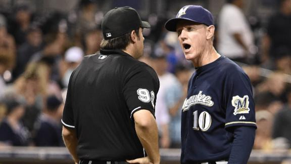 Video - Brewers Manager Rips Umpire