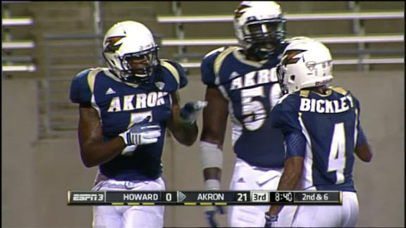 3Q AKR J. Chisholm run for 6 yds for a TD, (T. O'Leary KICK)