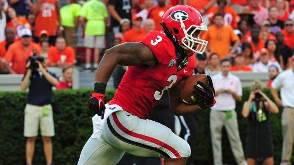 Gurley Fuels Georgia Past Clemson